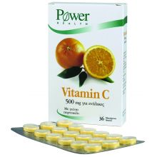 POWER HEALTH - Vitamin C 500 mg, cheawable tabs, 36s