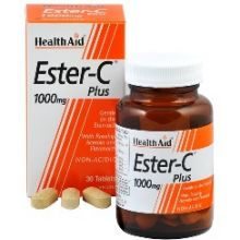 HEALTH AID - Balanced Ester C plus 1000mg tablets 60s