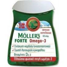 Mollers Forte Omega-3 Μίγμα Μουρουνέλαιο με Ιχθυέλαιο 60caps